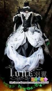 VOCALOID Kantarera Miku COSPLAY COSTUME Black dress Halloween
