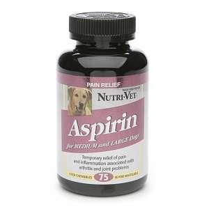 Nutri Vet K 9 Aspirin for Medium/ Larger Dogs, Chewable, Liver 75 ea