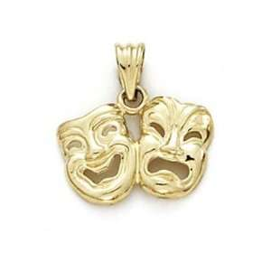 14k Comedy Tragedy Mask Pendant   JewelryWeb Jewelry