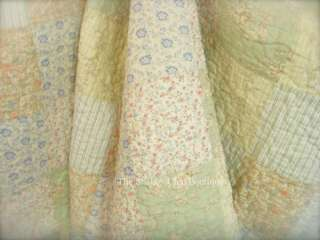 Shabby Country Cottage Patchwork Pink Vintage Roses Chic King Cotton