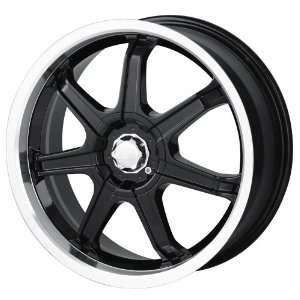 17x7 Sacchi S35 (235) (Black w/ Machined Lip) Wheels/Rims 5x100/114.3