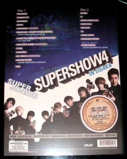 DVD Super Junior Super Show 4 In Osaka Japan 2 Disc Set