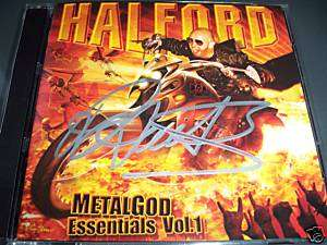 Rob Halford Autographed Signed Cd Dvd Judas Priest COA