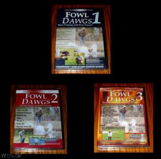 FOWL DAWGS 1 2 & 3 DOG TRAINING VIDEO 3 DVD COMBO SET