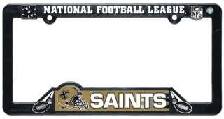 NEW ORLEANS SAINTS ~ NFL License Plate Frame Cover Plastic ~ New