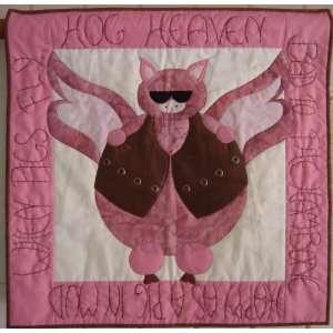 Hog Heaven Harley & Pig Lovers Applique Quilt Pattern: Home & Kitchen