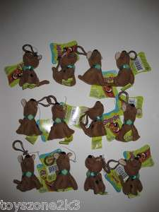 RE ** Lots of 12 ** Scooby Doo 3.5 Plush Key Chain Clip On BRAND