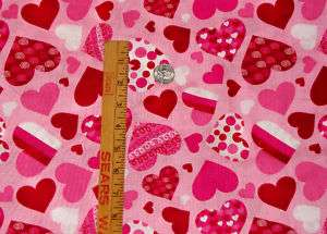 Pattern Hearts Springs Industries Valentine Fabric BTY