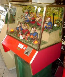 MUNVES SEVEN LUCKY MONKEYS, CIRCUS MUSIC 10 cent COIN OP MACHINE