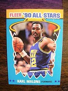1990 Fleer All Stars #2 Karl Malone Utah Jazz