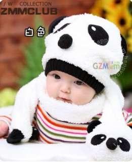 Boys & Girls Baby Childrens Super warm bear Hat Cap Hats + Cute Scarf
