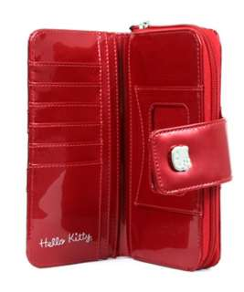 Loungefly HELLO KITTY TANGO RED PATENT EMBOSSED WALLET