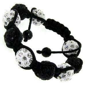 swarvoski disco ball Shamballa macrame bracelet hip hop bling Jewelry