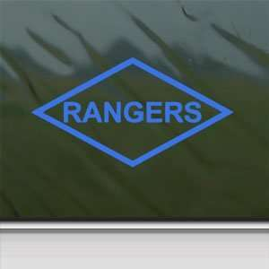 US Army Rangers Lozenge Patch Style Blue Decal Car Blue Sticker: Arts