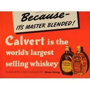 Whiskey Bottle Alcoholic Beverage   Original Print Ad