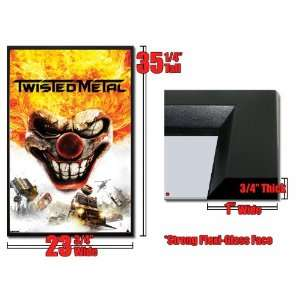 Framed Twisted Metal Video Game Poster 1428