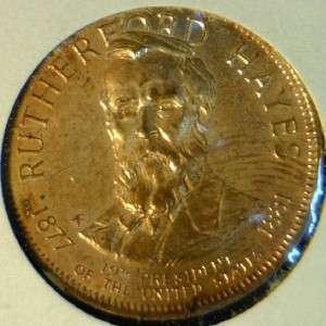 Hayes Franklin MINT Commemorative Bronze Medal   Token   Coin