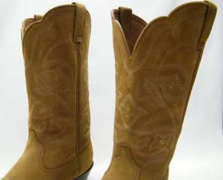 WOMEN ARIAT 15713 BROWN TAN SUEDE LEATHER COWBOY WESTERN BOOTS SZ 10 B