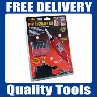 ENGRAVING KIT MACHINE 11 DRILL BITS MINI ENGRAVER TOOL