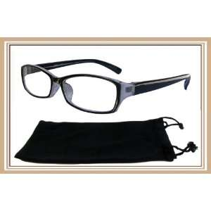 Reading Glasses 1 Reader Black Plastic Frame With Pouch 2