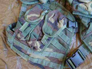 USMC Army Military Surplus SPEAR Woodland Camo ELCS MOLLE Load Bearing