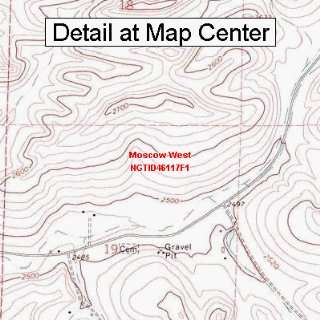 USGS Topographic Quadrangle Map   Moscow West, Idaho
