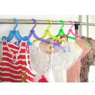 PCS Portable Travel Plastic Clothes Cloth Hang Hanger Foldable Fold
