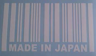 MADE IN JAPAN Barcode Sticker JDM Vinyl Window Decal