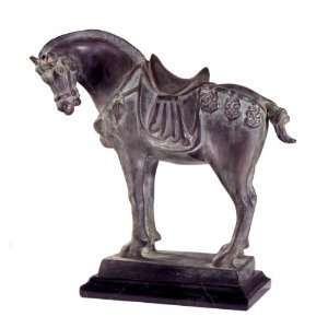 Tang Dynasty Horse Bronze Statue Sculpture Figurine Home & Kitchen