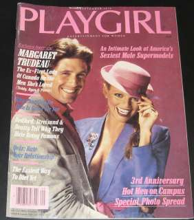 Playgirl Magazine September 1979 Margaret Trudeau, Brett Austin
