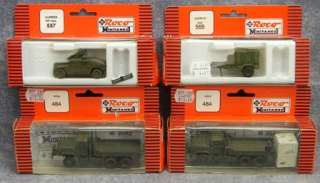17 ROCO Minitanks Tanks Truck Jeeps Military Vehicles HO Scale w