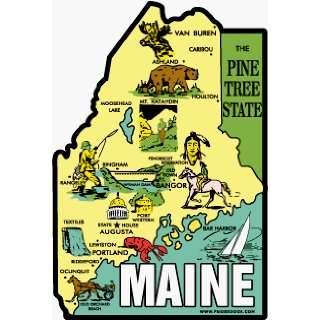 Fridgedoor Maine Pine Tree State Travel Decal Magnet Automotive