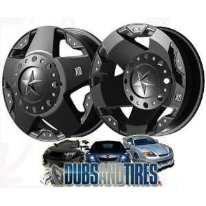 17 Inch 17x6 KMC XD SERIES wheels ROCKSTAR DUALLY Matte Black FRONT