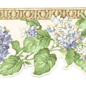 York Hydrangea Laser Cut Wallpaper Border