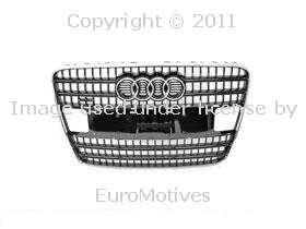 Audi Q7 3.6/4.2 radiator Grille Brilliant Black OEM front mesh
