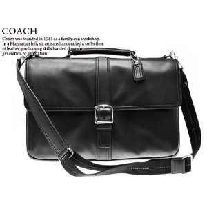 Coach Transatlantic Conner Leather Laptop Computer Briefcase Bag 70096