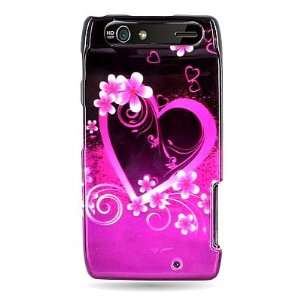 WIRELESS CENTRAL Brand Hard Snap on Shield With HEART LOVE PINK Design