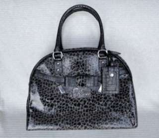 Leopard BLACK TRAVEL DOME luggage overnight bag carry on purse NEW