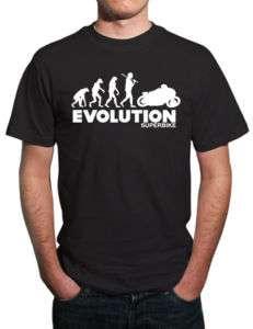 Evolution of Superbike Motorbike T Shirt. All Sizes
