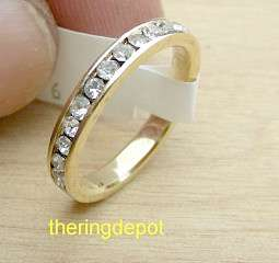 GOLD PLATE ETERNITY CZ RING SALE BANKRUPTCY STOCK LIQUIDATION # 45339