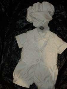 Baby Boys White Christening Baptism short/S/3 6 MONTHS