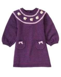 GYMBOREE baby girls cuddly lambs SWEATER DRESS CHOICE