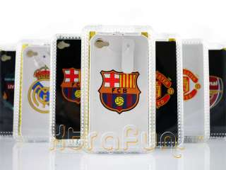 REAL MADRID FC CLUB GENUINE LEATHER CASE FOR IPHONE 4 4S 4G WHITE gift