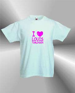 LOVE LOUIS TOMLINSON   GIRLS T SHIRT   ONE DIRECTION