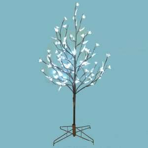 5 LED Lighted Cherry Blossom Flower and Leaf Twig Tree