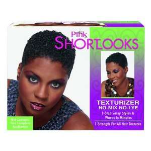 Lusters Pink Short Looks Hair Texturizer Kit No Mix No Lye Case Pack