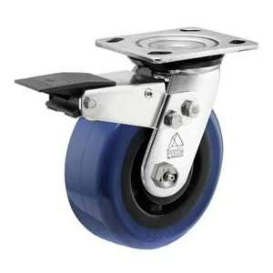 Bassick Prism Stainless Steel Total Lock Swivel Caster, Eagle Urethane