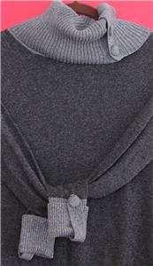 Banana Republic Charcoal Gray Luxury Cashmere Wool Blend T Nk Sweater