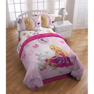 New BARBIE Girls FULL BED in a Bag COMFORTER+SHEETS Set