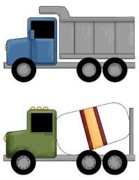 CONSTRUCTION TRUCK TRACTOR NURSERY WALL STICKERS DECALS